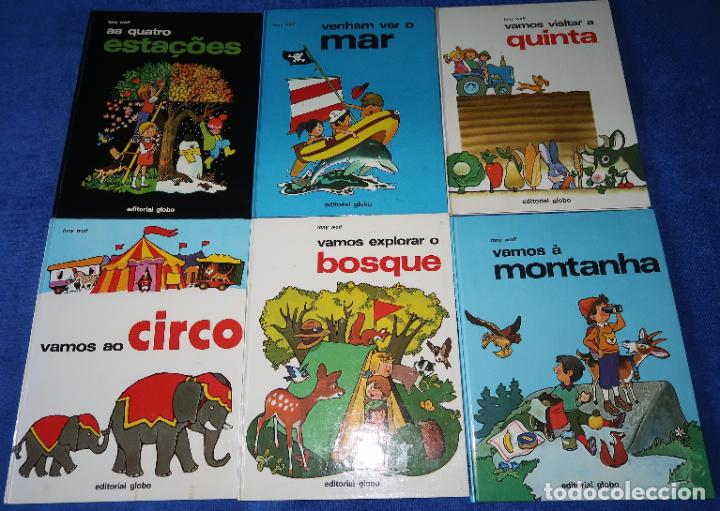 LOTE DE 6 LIBROS DE TONY WOLF - EDITORIAL GLOBO (1983) ¡PORTUGUÉS! (Libros de Segunda Mano - Literatura Infantil y Juvenil - Otros)