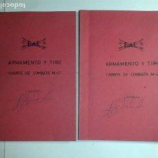 Libros de segunda mano: ARMAMENTO Y TIRO CARROS DE COMBATE M-47 TEXTO Y LÁMINAS 19?? EAE. Lote 245241095