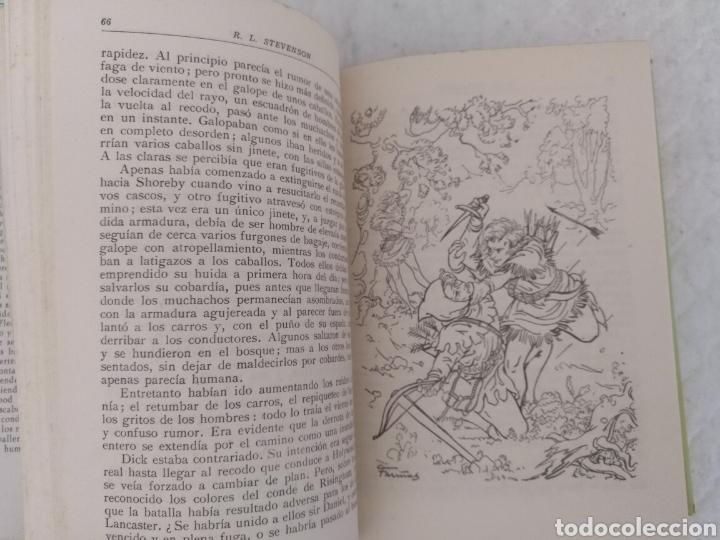 Libros de segunda mano: La flecha negra. R L Stevenson. Portada e ilustraciones Fariñas. Colección juvenil cadete 11. Libro - Foto 3 - 191987428