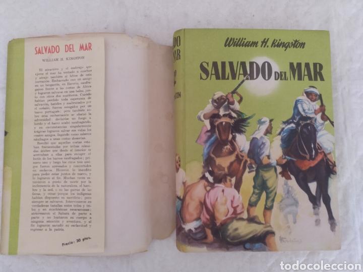Libros de segunda mano: Salvado del mar. William H Kingston. Fariñas. Colección juvenil cadete 112. Libro - Foto 2 - 191987825
