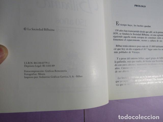 Libros de segunda mano: LA SOCIEDAD BILBAINA 150 AÑOS; BASAS FERNANDEZ, Manuel - Foto 3 - 192164205