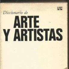 Libros de segunda mano: DICCIONARIO DE ARTE Y ARTISTAS. PARRAMON. Lote 192169828