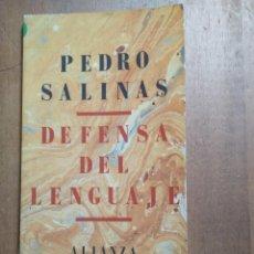 Libros de segunda mano: PEDRO SALINAS - DEFENSA DEL LENGUAJE. Lote 192310402