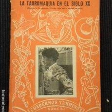 Libros de segunda mano: DON INDALECIO. LA TAUROMAQUIA EN EL SIGLO XX. DESDE 1931 HASTA NUESTROS DIAS. CUADERNOS TAURINOS Nº4. Lote 192320661