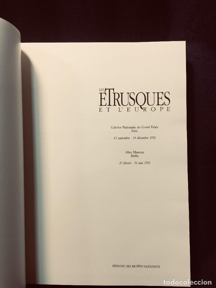 Libros de segunda mano: les etrusques et leurope musees nationaux etruscos y europa 1992 grand palais paris 31,5x24cms - Foto 6 - 192384146
