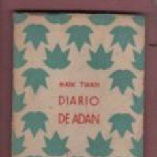 Livros em segunda mão: MINI LIBRO DEEL DIARIO DE ADAN POR MARK TWAIN DEDICADO D GRANO DE ARENA 1941 MADRID Y BARNA. Lote 192441636