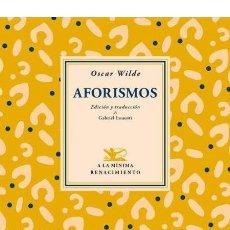 Libros de segunda mano: AFORISMOS.OSCAR WILDE.-NUEVO. Lote 245313210