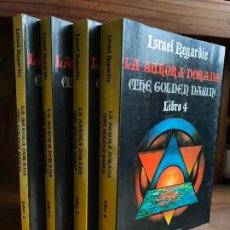 Libros de segunda mano: ISRAEL REGARDIE. THE GOLDEN DAWN (LA AURORA DORADA) 4 TOMOS. 1986. LUIS CÁRCAMO. Lote 192666863