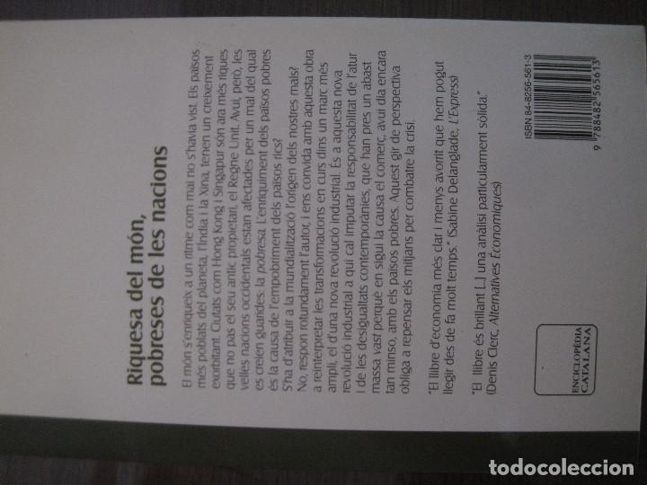 Libros de segunda mano: Daniel Cohen - Riquesa del món, pobreses de les nacions - Foto 3 - 192936122