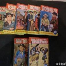 Libros de segunda mano: LOTE DE 7 LIBROS EDIT. BRUGUERA- COLECCIÓN HEROES -CAPITAN TRUENO- RINTINTIN- BONANZA . Lote 193254477
