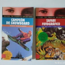 Libros de segunda mano: CAMPEÓN DE SNOWBOARD - ELIGE TU PROPIA AVENTURA 83 A. MONTGOMERY LIBRO JUEGO TIMUN MAS + REGALO SAFA. Lote 193551198