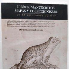 Libros de segunda mano: SOLER Y LLACH - CATALOGO SUBASTA LIBROS MANUSCRITOS MAPAS Y COLECCIONISMO NOVIEMBRE 2019. Lote 193649646