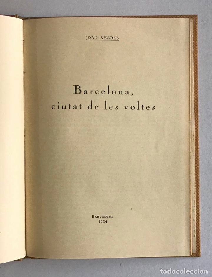 Libros de segunda mano: CIUTATS DE LLEGENDA. - AMADES, Joan. [4 títols en unu volum.] - Foto 3 - 193681933