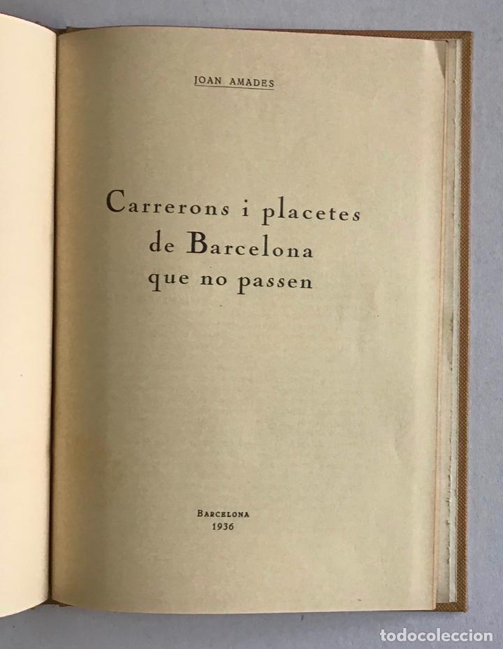 Libros de segunda mano: CIUTATS DE LLEGENDA. - AMADES, Joan. [4 títols en unu volum.] - Foto 4 - 193681933