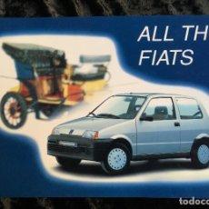 Libros de segunda mano: ALL THE FIATS - MODELOS DESDE 1899 A 1991 - 808 PÁGINAS - FOTOGRAFÍAS -. Lote 193745657