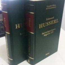 Libros de segunda mano: INVESTIGACIONES LÓGICAS ( I Y II COMPLETO) - HUSSERL, EDMUND. Lote 193763045