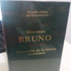 Libros de segunda mano: EXPULSIÓN DE LA BESTIA TRIUNFANTE - BRUNO, GIORDANO. Lote 193763790
