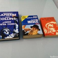 Libros de segunda mano: ¿ARDE NUEVA YORK? D. LAPIERRE. LA FAMILIA MOSKAT. I. BASHEVIS SINGER. EL LOBO ROJO. MORRIS WEST.. Lote 193976581