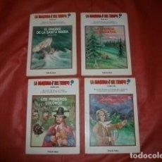 Libros de segunda mano: LA MÁQUINA DEL TIEMPO (GLOBO AZUL). COMPLETA. 1 AL 4. TIMUN MAS. Lote 193984733