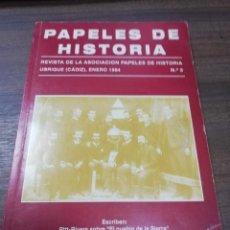 Libros de segunda mano: PAPELES DE HISTORIA. REVISTA DE LA ASOCIACION PAPELES DE HISTORIA. UBRIQUE, CADIZ. Nº 3. 1993.. Lote 193990425