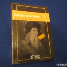 Libri di seconda mano: CUADERNO DE NOTAS LEONARDO DA VINCI EDICIONES PLUTON 2015. Lote 194072587