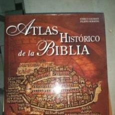 Livres d'occasion: ATLAS HISTÓRICO DE LA BIBLIA. ENRICO GALBIATI.SAN PABLO 2004. Lote 194085436