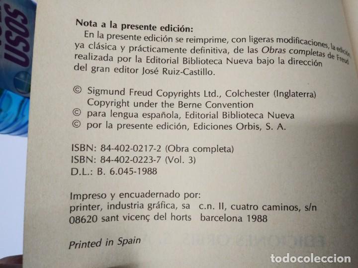 Libros de segunda mano: Libro FREUD volumen 3 Ensayo XVII LA INTERPRETACIÓN DE LOS SUEÑOS Orbis - Foto 2 - 194090522