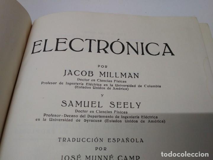 Libros de segunda mano: Libro año 1960 ELECTRÓNICA Editorial Labor Jacob Millman y Samuel Seely - Foto 2 - 194091528