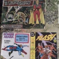 Libros de segunda mano: LOTE 3 COMICS. FLASH GORDON, EL HOMBRE ARAÑA Y EL INCREÍBLE HULK Y FLASH. Lote 194113775