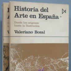 Libros de segunda mano: HISTORIA DEL ARTE EN ESPAÑA. VALERIANO BOZAL. 2 TOMOS. Lote 194214211