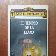 Libros de segunda mano: EL TEMPLO DE LA LLAMA, TU ERES EL PROTAGONISTA LIBROJUEGO ARIN, DAVE MORRIS, 1986. Lote 194217945