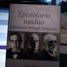 Libros de segunda mano: EPISTOLARIO INÉDITO MARAÑÓN ORTEGA UNAMUNO. ESPASA 2008. Lote 194218170