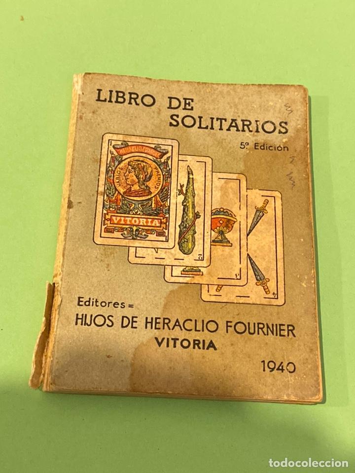 LIBRO DE SOLITARIOS FOURNIER 1940 (Libros de Segunda Mano - Ciencias, Manuales y Oficios - Otros)