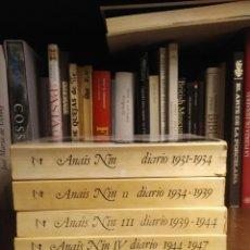 Libros de segunda mano: ANAÏS NIN. DIARIO COMPLETO. TOMOS I, II, III Y IV. Lote 194221477