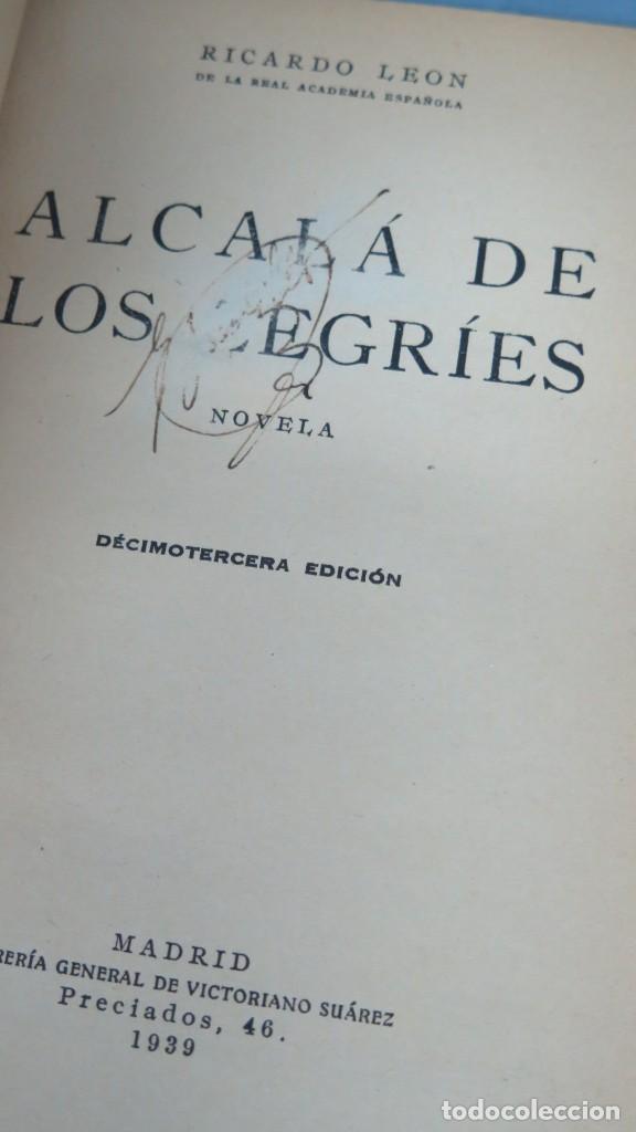 Libros de segunda mano: 1939.- ALCALA DE LOS ZEGRIES. RICARDO LEON - Foto 2 - 194225613