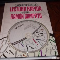 Libros de segunda mano: CURSO DEFINITIVO DE LECTURA RÁPIDA MÉTODO RAMÓN CAMPAYO, CON CD. EDAF NOVIEMBRE 2.009. Lote 194225938