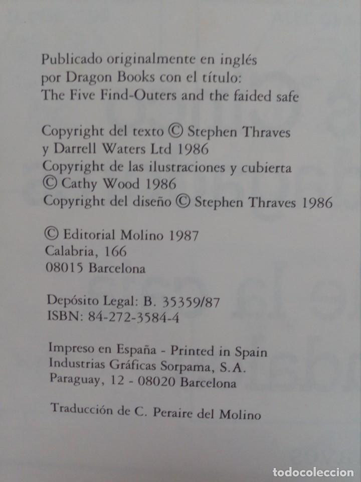 Libros de segunda mano: Resuelve Tu Mismo El Misterio - Los Cinco Indagadores Y El Robo De Las Caja De Caudales - Molino 198 - Foto 2 - 194234925