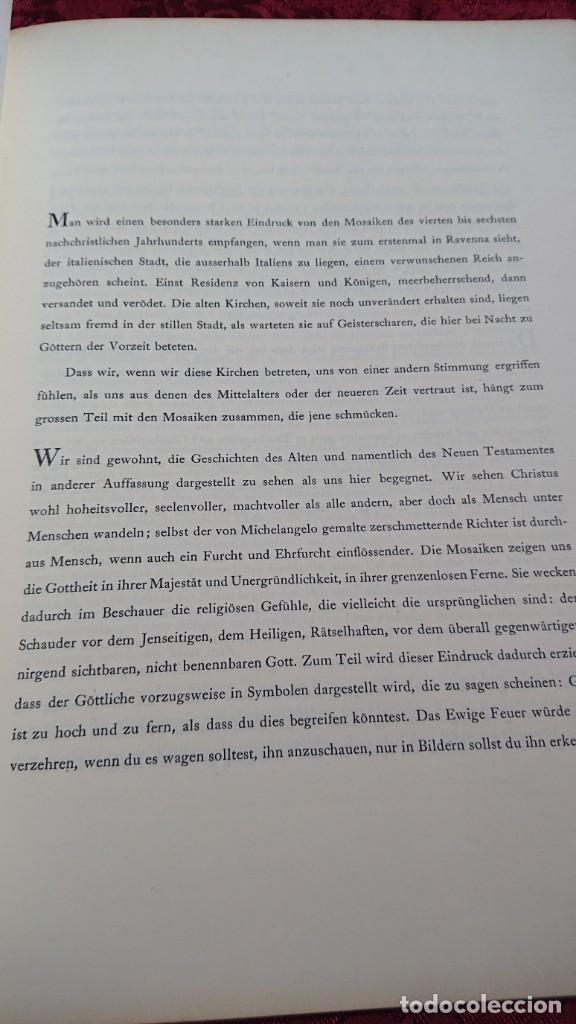 Libros de segunda mano: ALTCHRISTLICHE MOSAIKEN VORWORT VON RICARDA HVCH MOSAICOS CRISTIANOS ANTIGUOS ROMA NAPOLES MILAN - Foto 6 - 194240996