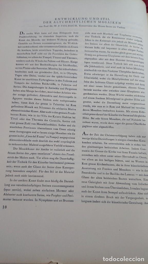 Libros de segunda mano: ALTCHRISTLICHE MOSAIKEN VORWORT VON RICARDA HVCH MOSAICOS CRISTIANOS ANTIGUOS ROMA NAPOLES MILAN - Foto 7 - 194240996