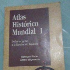 Libros de segunda mano: HERMANN KINDER, WERNER HILGE - ATLAS HISTORICO MUNDIAL I Y II - ITSMO - 1990 . Lote 194242847