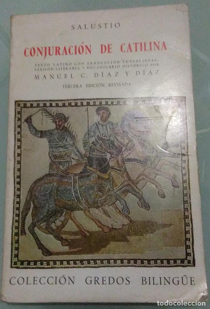 SALUSTIO - CONJURACION DE CATILINA . GREDOS BILIGÜE . 1979 (Libros de Segunda Mano - Historia - Otros)