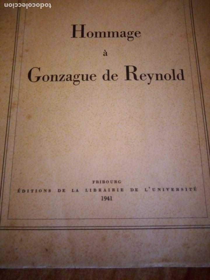 Libros de segunda mano: hommage a gonzague de reynold,fribourg 1941 - Foto 2 - 194246136