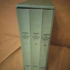 Libros de segunda mano: ECRITS DE GUSTAVE ROUD,3 TOMOS,1978,FRANCES. Lote 194247542