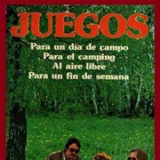 Libros de segunda mano: JUEGOS. PARA UN DIA DE CAMPO. PARA EL CAMPING. AL AIRE LIBRE. PARA UN FIN DE SEMANA. ILUSTRADO.. Lote 194248828