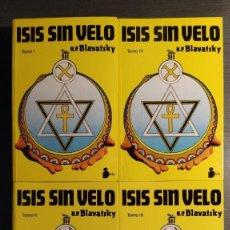 Libros de segunda mano: ISIS SIN VELO. HELENA PETROVNA BLAVATSKY EDITORIAL SIRIO . Lote 194250343