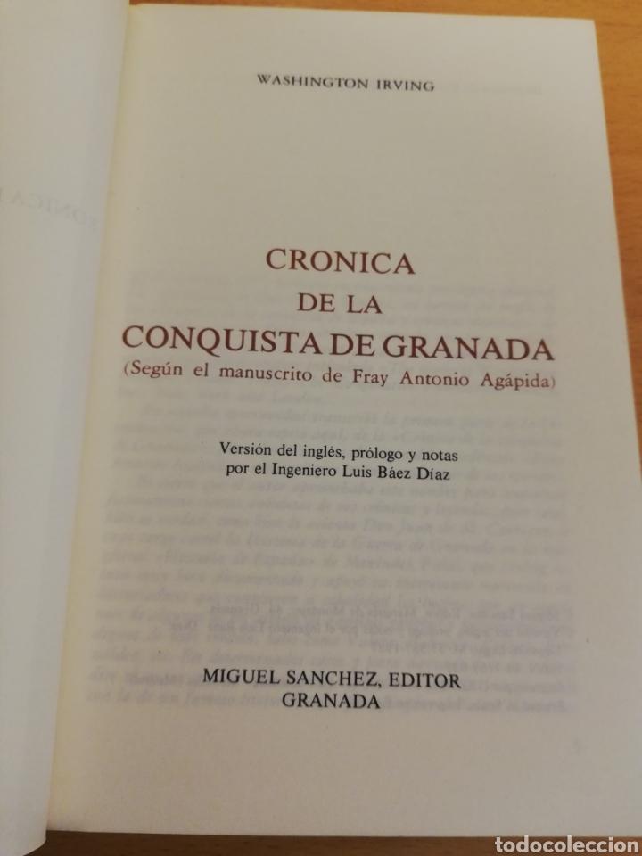 Libros de segunda mano: CRÓNICA DE LA CONQUISTA DE GRANADA (WASHINGTON IRVING) - Foto 2 - 194253003