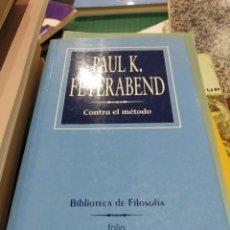 Libros de segunda mano: PAUL K FEYERABEND CONTRA EL MÉTODO. Lote 194275256