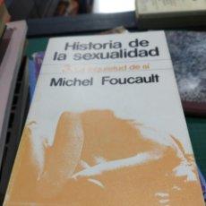 Libros de segunda mano: MICHEL FOUCAULT HISTORIA DE LA SEXUALIDAD LA INQUIETUD DE SÍ 3. Lote 194276167