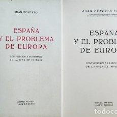 Libros de segunda mano: BENEYTO, J. ESPAÑA Y EL PROBLEMA DE EUROPA. CONTRIBUCIÓN A LA HISTORIA DE LA IDEA DE IMPERIO. 1942. Lote 194279623