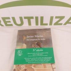 Libros de segunda mano: JAVIER MARIAS.ASI EMPIEZA LO MALO.ALFAGUARA.. Lote 194320325